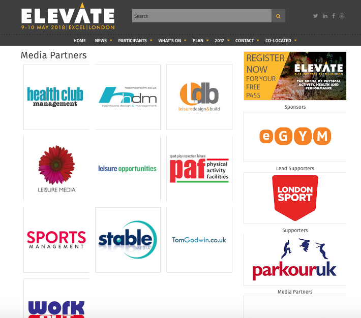 Elevate arena media partner